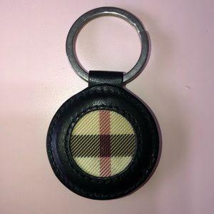 Burberry keychain black leather